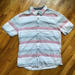 """Vans """"Off The Wall"""" Striped Button Up Shirt"""